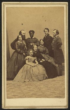 Group portrait, possibly a family, with an African American woman  abt. 1860  S. C. Landon, Photographer, New Milford, Conn.  Albumen print/CDV  Library of Congress