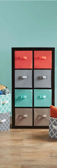 Stylish storage ideas on pinterest better homes and for Better homes and gardens 6 cube organizer