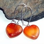 Carnelian Heart Earrings