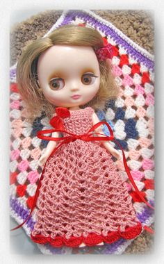 Nightgown for Blythe Middie Doll free Shipping by Shopdollwithowl on Etsy