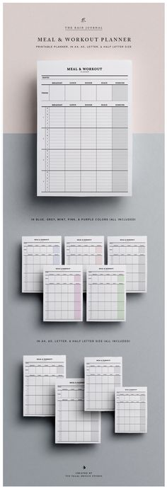 The Meal & Workout Planner Printable - Plan your meals & workout monthly, weekly, or daily! etsy.me/2lDrIS6