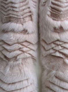 Laser cut fur with sculptural textures; haute couture textiles for fashion design // Marion Chopineau for Yiqing Yin
