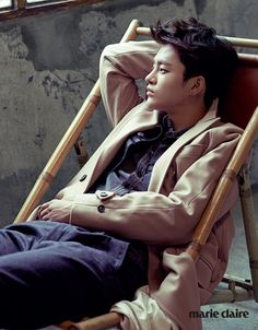Seo In Guk Oozes Charisma for Marie Claire Magazine