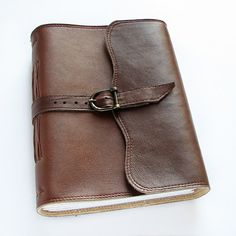 Large leather journal in brown leather diary lined by ArtStitch, $62.00