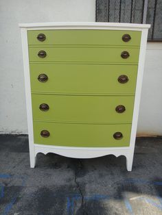 Vintage Modern 4 Drawer Dresser  - this is the same colors as our newly painted dresser!