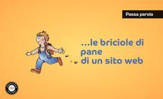 Breadcrumb:<br> le briciole di pane di un sito web