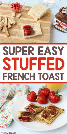 This super easy stuffed French toast is so easy to make, even on busy mornings. Your kids will love this easy breakfast idea.