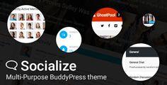 Socialize: Multi-Purpose BuddyPress Theme