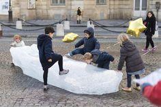 Olafur Eliasson Hauls iceberg in Paris