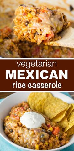 Vegetarian Mexican Rice Casserole