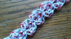 This is a hooked design. No loom needed. *Zuzu* NEW Bubbled In Hearts Bracelet