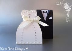Sweet Bio design: Tutorial: Bomboniere Abiti da Matrimonio - Wedding Dresses Favors