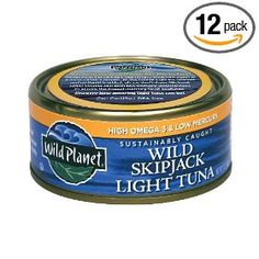 Wild Planet Sustainably Caught Wild Skipjack Light Tuna, 5 Ounce Cans (Pack of 12), (tuna, wild planet, low mercury, quality tuna, bpa-free, canned tuna, sustainable tuna, convenient, groceries)