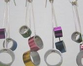 Dangly knitting needle earrings - I have a pair of these.