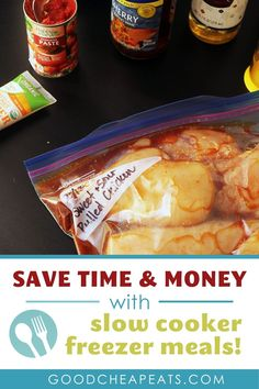 Save time and money by combining the slow cooker with your freezer meals. You'll find three types of freezer meals for the slow cooker and 21 of our best recipes. Meal prep has never been easier or tasted better. Slow Cooker Freezer Meals, Best Slow Cooker, Freezer Cooking, Slow Cooker Recipes, Cooking Recipes, Healthy Eating Tips, Easy Healthy Recipes, Easy Meals, Sausage And Peppers Sandwich