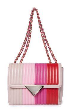 Medium Pink Elizabeth Shoulder Bag by SARA BATTAGLIA for Preorder on Moda Operandi