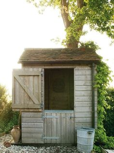 Potting Shed at Walnuts Farm.going to do this to my garden shed. Greenhouse Shed, Small Greenhouse, Split Door, Fresco, Potting Sheds, Potting Benches, Shed Doors, Shed Kits, She Sheds