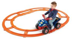 Fisher-Price Power Wheels Hot Wheels Lil Quad with Track