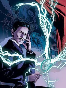 """Nyarlathotep in the guise of Nikola Tesla in Rotomago and Julien Noirel's comic-book adaptation of the prose poem """"Nyarlathotep"""". Nikola Tesla, Tesla S, Tesla Nikolai, Astronomy Facts, Call Of Cthulhu, Historical Art, Nerd, Gold Art, Science Art"""