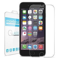 BUY NOW iPhone 6 Screen Protector, Maxboost® iPhone 6 Glass Screen Protector (4.7 )- [Tempered Glass] World's Thinnest Ballistics Glass, 99% Touch-screen Accurate,