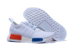 Authentic Nike Shoes For Sale, Buy Womens Nike Running Shoes 2017 Big Discount Off Adidas Originals NMD Runner Primeknit Men Running Shoes white blue red Adidas Originals NMD - Adidas Nmd Primeknit, Nmd Adidas, Adidas Shoes Nmd, Trainers Adidas, Discount Sneakers, Cheap Sneakers, Nike Shoes For Sale, Nike Shoes Cheap, Nmd R1