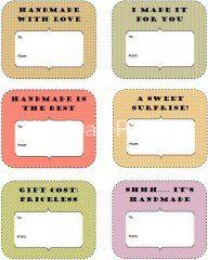 Handmade gift labels