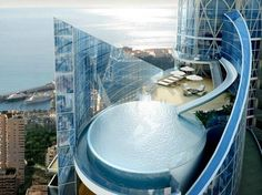 Penthouse with a water slide