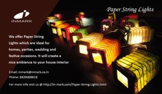 Paper can be used for various reasons and products made using the paper are in high demand in the global market. The reason is simple.  It is an ecofriendly product which is environment savvy and hence the demand is high. The Paper String Lights are available in various textures of papers.