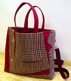 Upcycle a wool jacket into a tote bag.