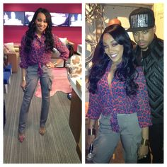 Monica & Shannon Brown Make Press Rounds, I'd wear this.