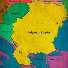 Bulgarian Empire at its territorial peak