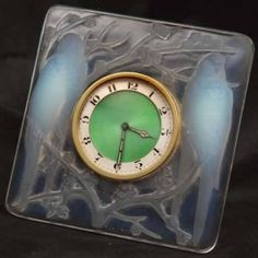 Lalique Inseperables Desk Clock
