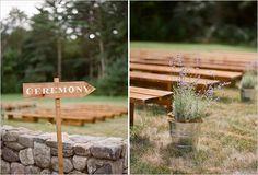 outdoor wedding ceremony decor | photo: staceyhedman.com