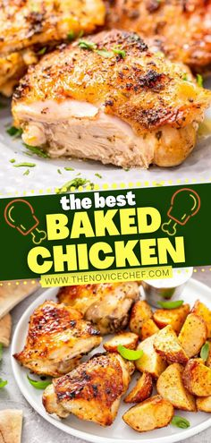 Looking for a super juicy main dish for your family dinner? With a lip-smacking marinade and a citrusy and garlicky glaze, this baked chicken is the best and comes out perfect every time. Check out how you can turn this easy recipe into a one-pan meal! Pin this for later!