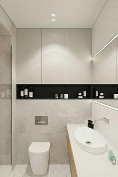 Contemporary apartment located in Moscow, Russia, designed by Geometrium DSGN. Small Bathroom Organization, Bathroom Design Small, Bathroom Interior Design, Modern Bathroom, Zeitgenössisches Apartment, Apartment Design, Bad Inspiration, Bathroom Inspiration, Bathroom Ideas