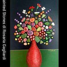 Pebble Painting, Dot Painting, Pebble Art, Stone Painting, Stone Crafts, Rock Crafts, Arts And Crafts, Pebble Stone, Stone Art