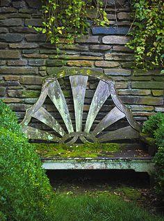 Garden bench at Dumbarton Oaks in Georgetown  #GISSLER #interiordesign