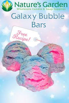 Free Galaxy Bubble Bar Recipe by Natures Garden
