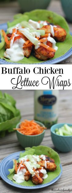 Looking for an easy and light weeknight meal? These Buffalo Chicken Lettuce Wraps are bursting with flavor and still skinny! #ad #marzetti #fortheloveofproduce
