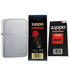 ZIPPO 1941 Replica Brushed Chrome Windproof Lighter with Two Flint Card and One Wick Card. ZIPPO 1941 Replica Brushed Chrome Windproof Lighter with Two Flint Card and One Wick Card.