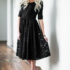 I just discovered this while shopping on Poshmark: Mikarose Black Lace Dress. Check it out! Price: $36 Size: S, listed by paige_205