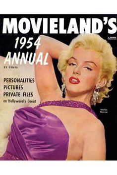 greatbuffalotradingpost:  Marilyn on the cover of Movieland 1954, taken from book, Dressing Marilyn by designer, William Travilla