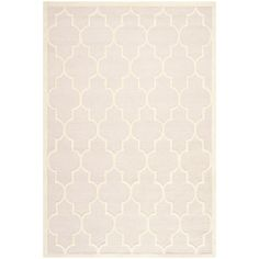 Safavieh Handmade Moroccan Cambridge Light Pink/ Ivory Wool Rug (8' x 10') , Size 8' x 10' (Cotton, Trellis)