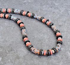 SALE Colorful Tribal Necklace African Statement Necklace