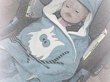 """Einschlagedecke """"glädje"""" für Babyschalen - Größe Newborn bis ca. 9 Monate"""