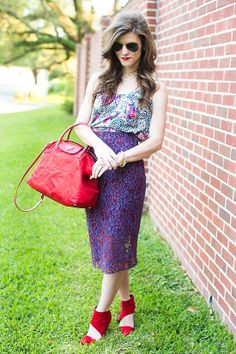 Mixing Prints: Purple & Red