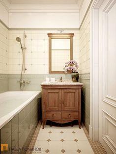 Уютная ванная комната в английском стиле от студии Павла Полынова / bathroom / bathroom decor / bathroom ideas / by Pevel Polinov Studio #design #interior #homedecor #interiordesign