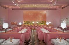 #Sketchrestaurant #theGallery in #London, interior design #IndiaMahdavi #Feminine #Monochromatic design