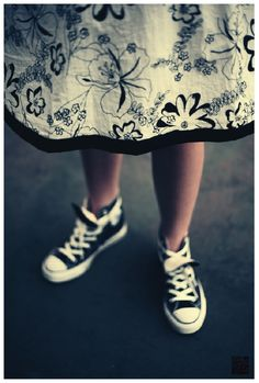 prom dress with converse shoes go together too! It's actually pretty cute...