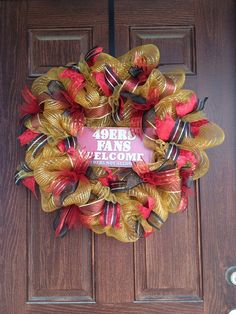 49er Fans Welcome Wreath by BYOWreaths on Etsy